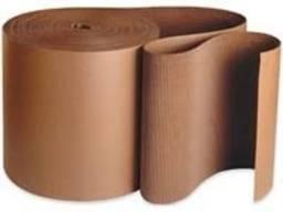 Двуслойный гофрокартон 1050 мм в рулоне для упаковки, бурый, рулонный картон для обмотки