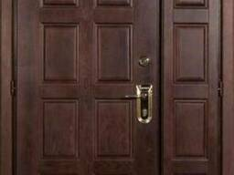 Двустворчатые входные металлические двери