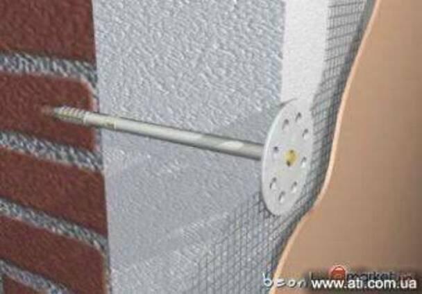 Дюбель зонт для теплоизоляционных плит.