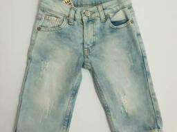 Джинсовые удлиненные шорты для мальчика с потертостями 6