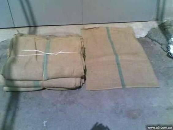 Джутовые кубинские мешки б/у