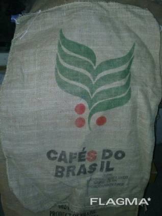 Джутовые мешки из под кофе. Для фасовки, декора, изоляции