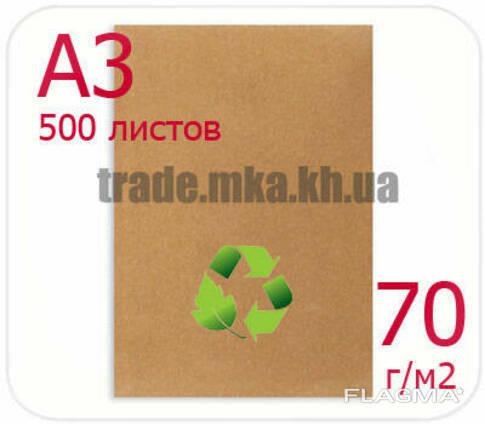 Эко крафт бумага А3 70г/м2 (упаковка 500 л. )