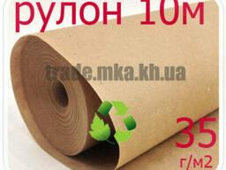 Эко крафт бумага в рулоне 35г/м2 (10 метров)
