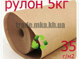 Эко крафт бумага в рулоне 35г/м2 (5 кг)