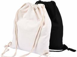 Промо рюкзаки черного и белого цвета, 100% хлопок