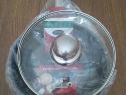 Экологическая сковорода 20 см. со стекл. крышкой - индукция