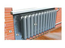 Экран теплоотражающий с алюминиевой фольгой для радиатора 950*500 (шт. )