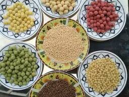 Екструдовані сухі сніданки кульки кукурудзяні та рисові