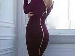 Элегантное женское платье с молнией на спине