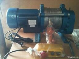 Электрическая лебедка 500/1000 кг 60/30 м троса 380 В
