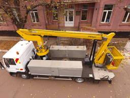 Електромонтажні роботи із застосуванням автовишки MAN (18 м)