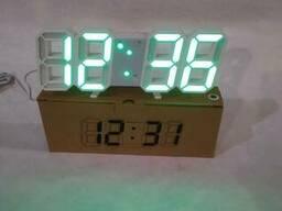 Электронные настольные LED часы с будильником и. ..
