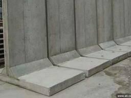 Элементы подпорных стен