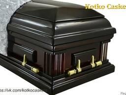 """Элитный Гроб лакированный """"Колонны"""", элитный гроб саркофаг"""