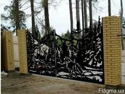 Элитные металлические кованые ворота, заборы, калитки, решет