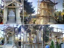 Элитные склепы, надгробия, Изготовление памятников под заказ