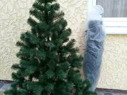 """Елка ель искусственная зеленая стандартная """"Карпатская"""", на Новый год, с подставкой. .."""