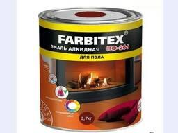 Эмаль для пола ПФ-266 Farbitex красно-коричневая, 2,7 кг