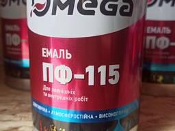Эмаль ПФ-115 Омега 0, 9 кг, 2, 8 кг