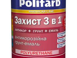 Эмаль Polifarb гладкая антикоррозийная по металлу 3в1