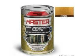 Эмаль с металлическим эффектом Master Farbitex золото, 0,8л
