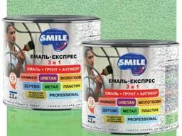 Эмаль Smile молотковая антикоррозийная по металлу 3в1