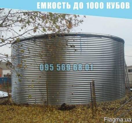 Емкость на 1000 кубов для воды, КАС, патоки, емкость 1000 ку