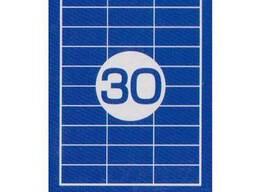 Этикетки липкие 30 ячеек 70х29,70 мм