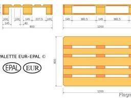 Евро-поддоны 800*1200*144 мм
