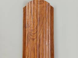Евроштакет под дерево с покрытием 3Д цвет ольха, металлический штакет под ольху 3D