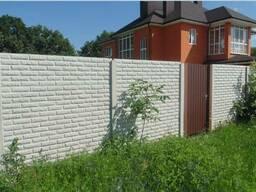 Заборы бетонные. Лучшая цена и качество! Монтаж.