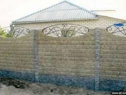 Еврозабор Харьков, еврозабор мрамор из бетона