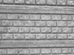 Еврозабор односторонний Кирпич в канте