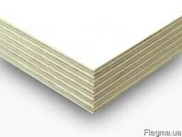 Фанера ламинированная белым цветом ФСФ 2500х1250х6, 5 мм