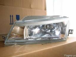 Фара Дэу Нексия 95-2008 левая правая, гладкое стекло