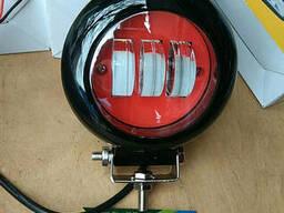 ФАРА Светодиодная круглая 30W (3 Диода) красная