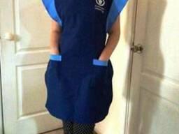 Фартук для уборщицы, униформа продавца, рабочая одежда