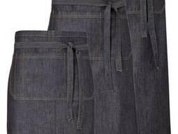 Фартук джинсовый, передник официанта