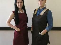 Фартук-накидка для официанта, униформа для горничной