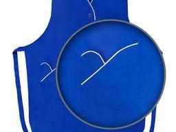 Фартук-накидка из габардина синего цвета