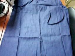 Фартук рабочий ткань диагональ синяя