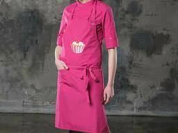 Фартук розовый для кондитера, пошив униформы для официантов