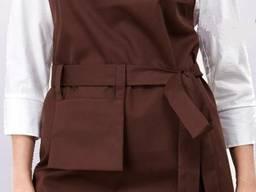 Фартук с навесным карманом официанту, фартуки для кофейни