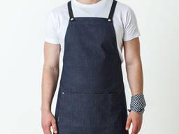 Фартуки джинсовые для официантов барменов пошив поварской одежды