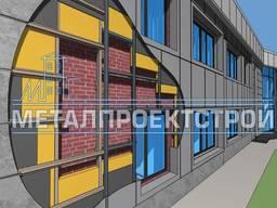 Навесной вентилируемый фасад, металлическая кассета НВФ