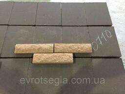 Фасадная плитка черная, размер 200х65х20мм