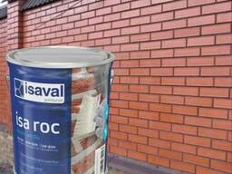 "Фасадный прозрачный лак Isaval Иза-Рок 4л под""Мокрый Камень"""