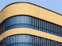 Фасадные материалы Окрашенный алюминий