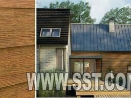 Фасадные панели ,производства Польша, текстура золотой дуб